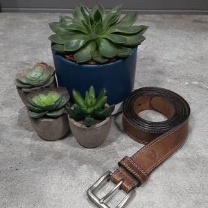 """Timberland 1.4"""" Wide Soft Leather Light Brown Belt"""